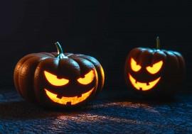 crema calabaza y puerro halloween